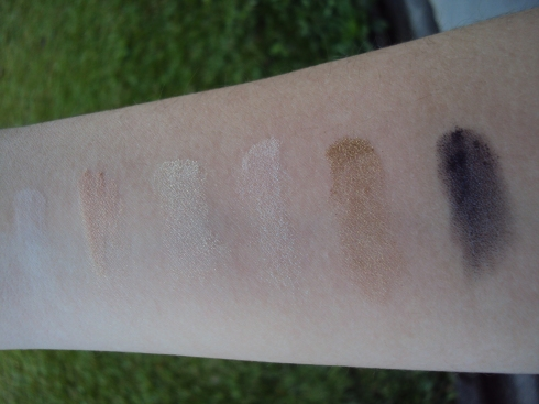 Amostra das cores: Prep+Prime, Silver Dusk, Vanilla, Naked, Old Gold e Blackned Blue