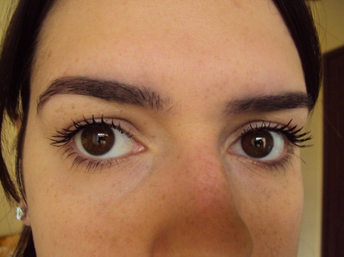 Cílios com duas camadas de Big Eyes, sem curvex